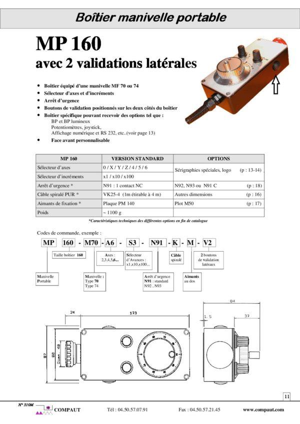 boîtier manivelle portable MP160