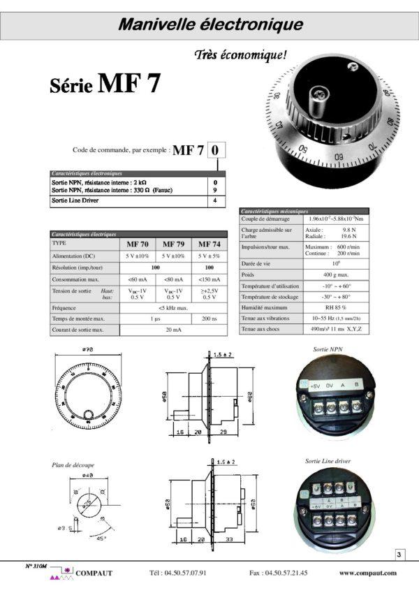 manivelle électronique MF7