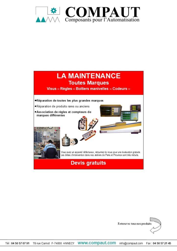 Plaquette maintenance Compaut